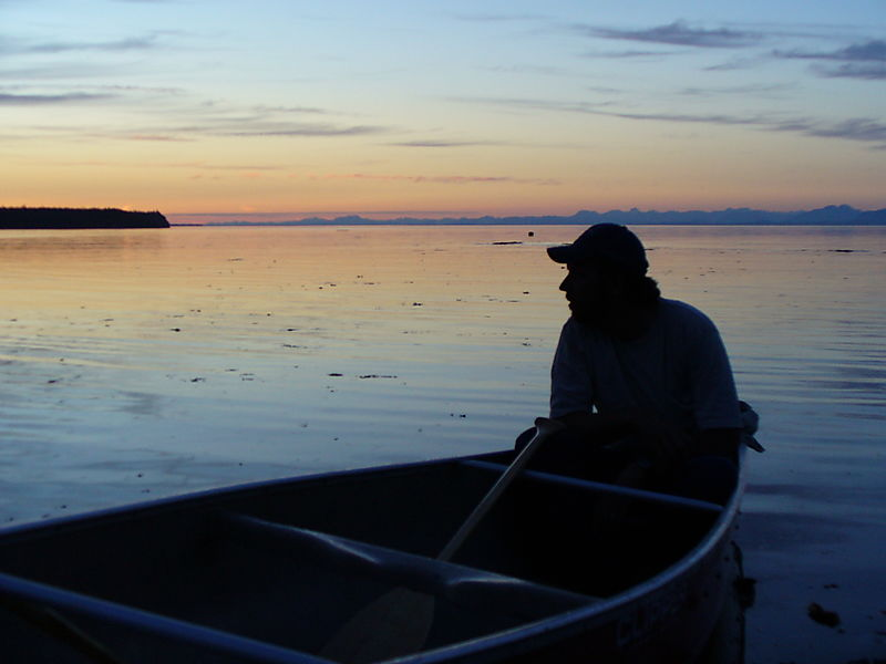 Canada Vince in canoe