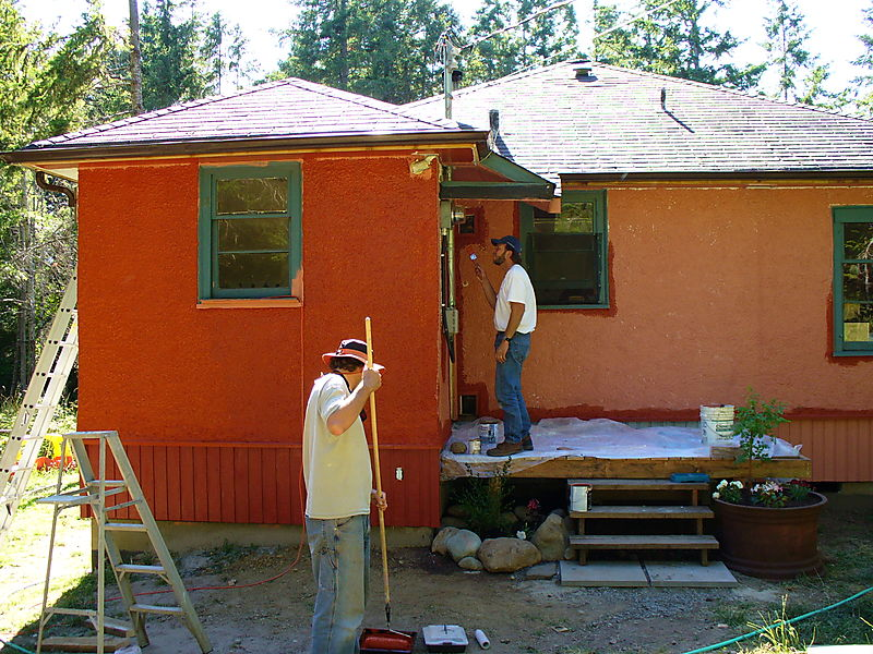 Canada Vince and Kevin painting