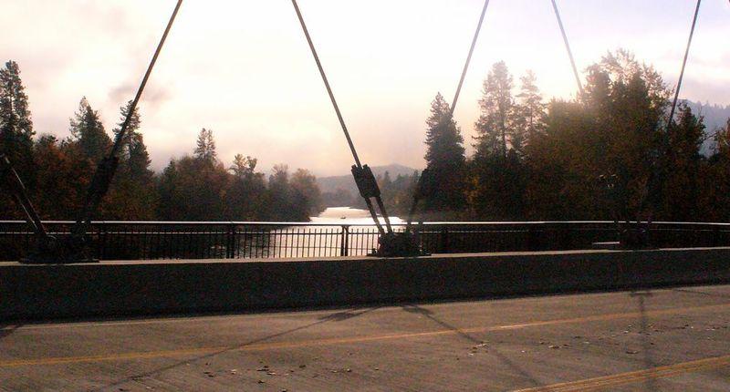 Bridge view of river