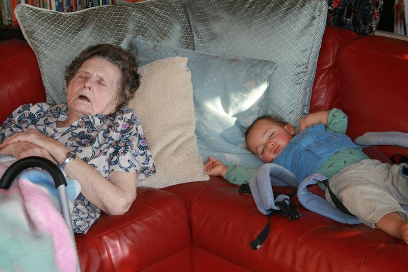 Grandma and ezra sleeping