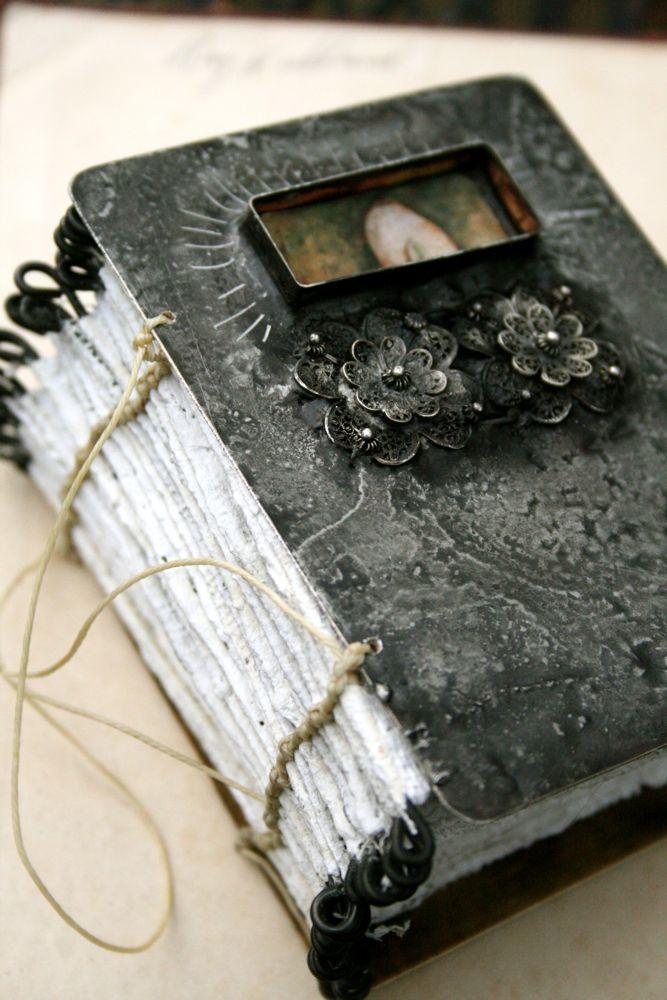 Plaster:metal book