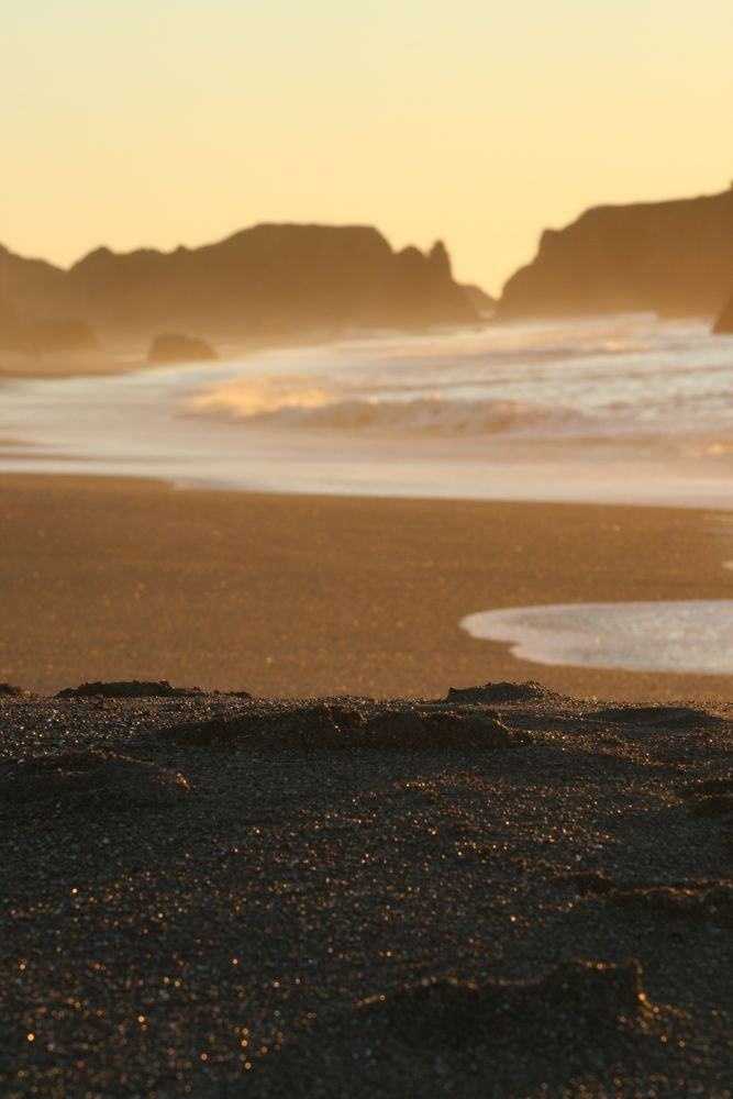 Oregon coast sand