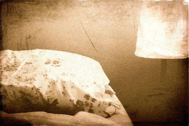Pillow and light