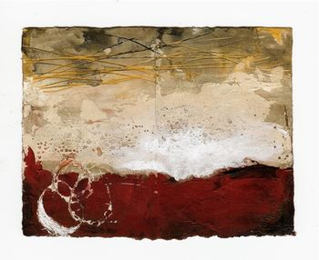 Red plaster painting