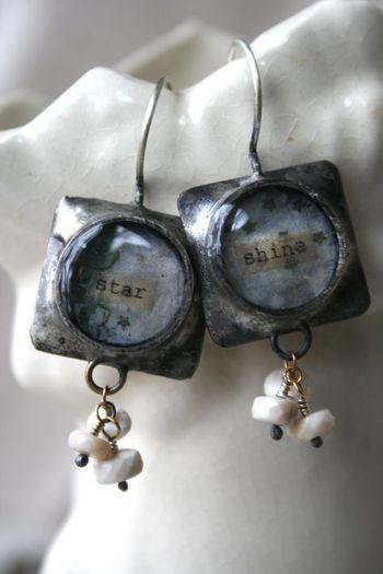 Star shine earrings 1