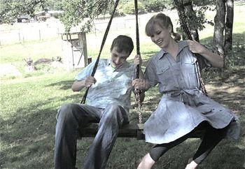 Merrie and evan swinging