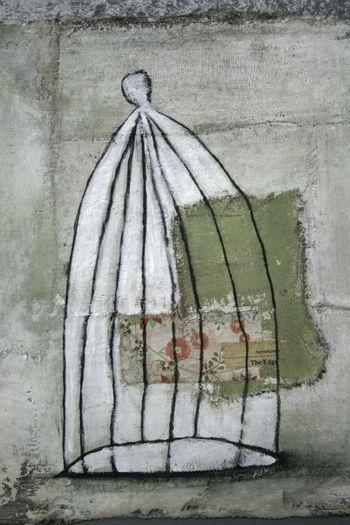 Cage on gauze