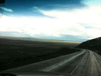 Wet desert road