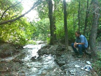Vinnie at creek
