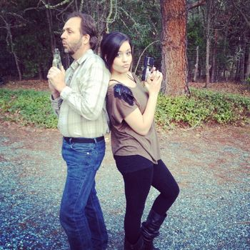 Daddy daughter gun slingers